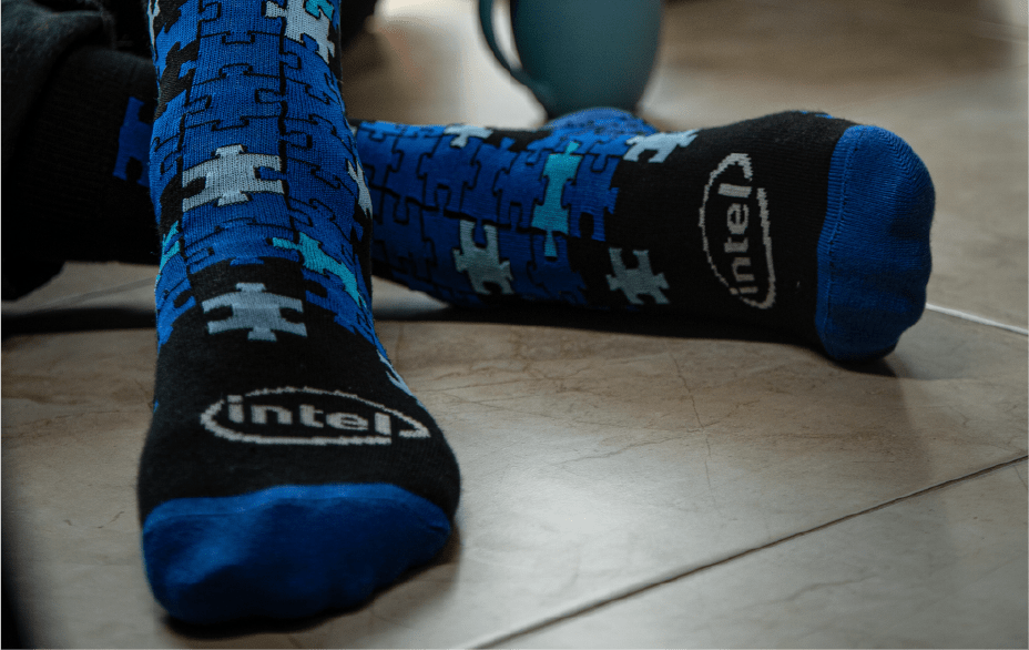 Featured Custom Branded Socks for DELL