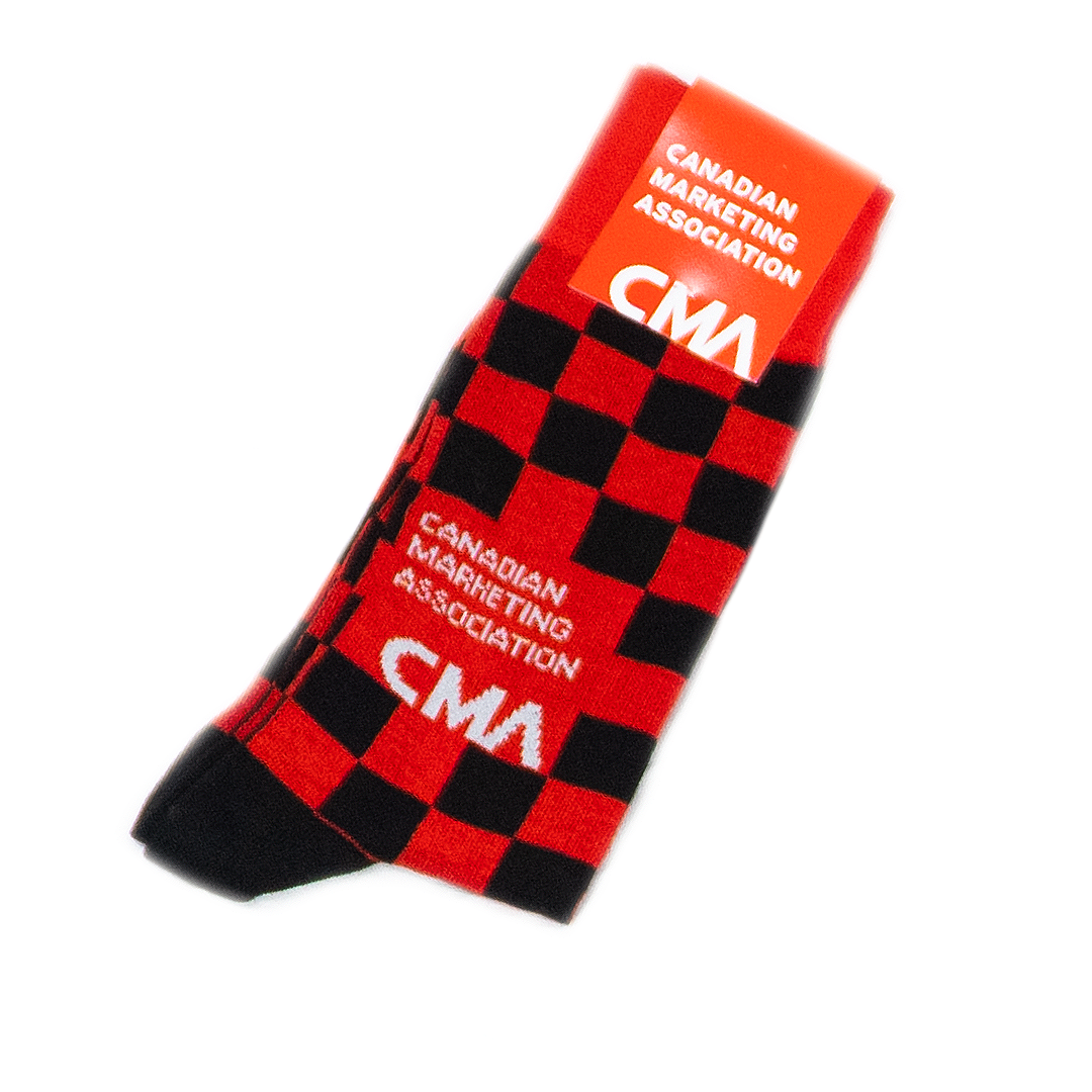 Canadian Marketing Association Custom Socks