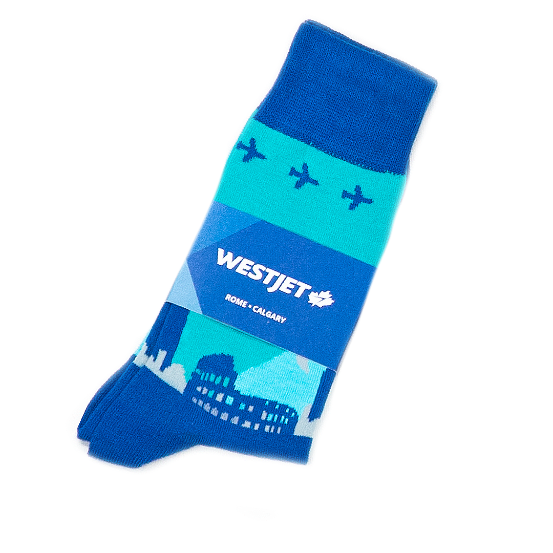 Westjet Custom Socks